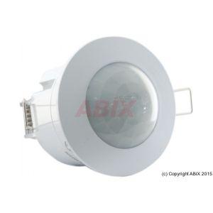Détecteur de mouvement Ø45 mm blanc 1200 W 360° à encastrer