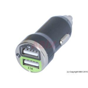 Chargeur USB sur allume-cigare 2 ports 2,1 ampères