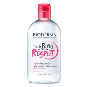 Bioderma Créaline H2O Eau Micellaire Solution Démaquillante 500ml Edition Collector Respect