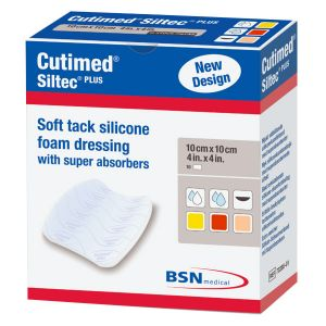 BSN Médical Cutimed Siltec+ Pansement 10x10cm 10 Unités