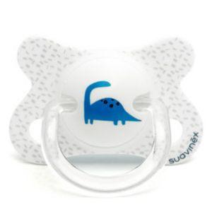 Suavinex Sucette Latex Revers Dino Blanc 2-4m