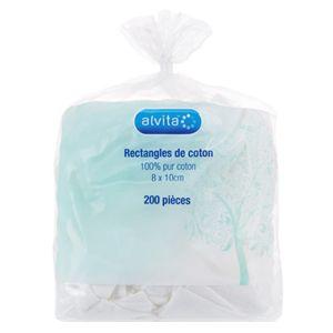 Alvita Rectangle de Coton 8x10cm 200 unités