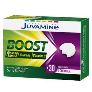 Juvamine Boost Vitamine C Ginseng Guarana 30 comprimés à croquer