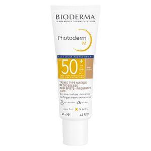 Bioderma Photoderm M Crème Solaire Visage Masque de Grossesse Teinte Dorée SPF50+ 40ml
