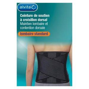 Alvita Ceinture de Soutien Lombaire Standard à Croisillon Dorsal H21 T2
