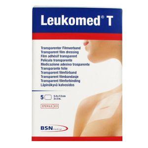 BSN Médical Leukomed T Pansement Non Tissé Adhésif 5 x 7,2cm 5 Unités