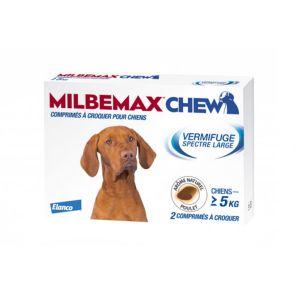 Milbemax Chew Vermifuge Spectre Large pour Chiens de plus de 5kg 2 comprimés