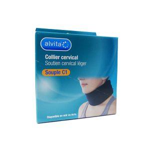 Alvita Collier Cervical Souple C1 7,5cm Noir T3