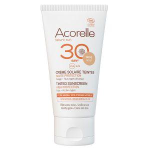 Acorelle Nature Sun Crème Solaire Teintée Bio SPF30 Doré 50ml