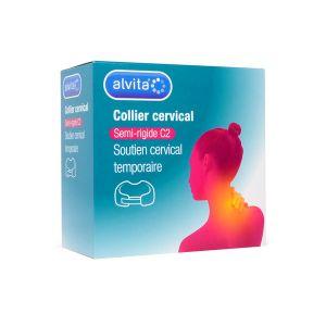 Alvita Collier Cervical Semi-Rigide C2 7,5cm Noir T2