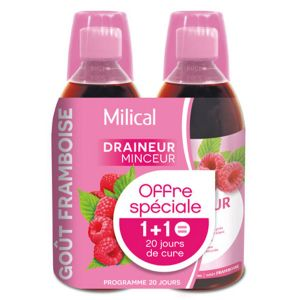 Milical Draineur Ultra Goût Framboise Lot de 2 x 500ml