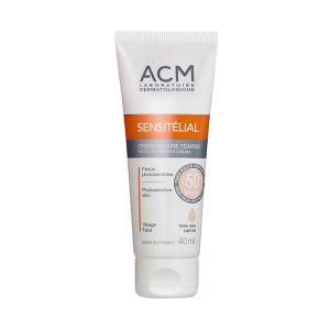 ACM Sensitélial Crème Solaire Teintée Claire SPF50+ 40ml