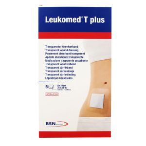 BSN Médical Leukomed T+ Pansement Non Tissé Adhésif 10 x 15cm 5 Unités