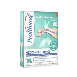 ProRhinel Bandelettes Menthol 10 unités