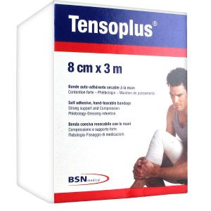 BSN Médical TensoPlus Bande Cohésive Blanche 8cm x 3m