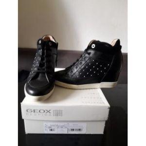 Chaussures Geox Basket compensée noir GEOX - Couleur 40 - Taille Noir
