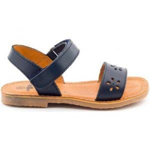 Sandales enfant Boni Classic Shoes Sandales en cuir à scratch - DAISY - Couleur 24,25,26,27,28,29,30,31,32,33,34,35 - Taille Bleu