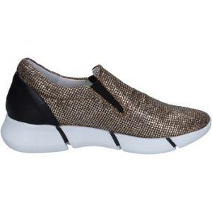 Chaussures Elena Iachi slip on mocassins or glitter noir cuir BT588 Doré - Taille 36,37,40