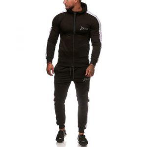 Ensembles de survêtement Monsieurmode Ensemble jogging streetwear Survêtement 3392 noir, Blanc - Couleur EU S,EU M,EU L,EU XL - Taille Noir