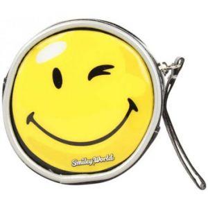 Porte-monnaie A Découvrir ! Porte monnaie noir verni déco smiley jaune - Couleur Unique - Taille Noir