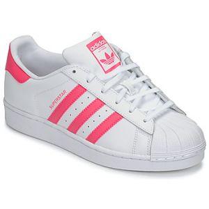 Chaussures enfant adidas SUPERSTAR J - Couleur 36,38,40,36 2/3,37 1/3,38 2/3,39 1/3 - Taille Blanc