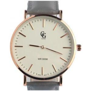 Montre Gg Luxe Montre Bracelet Cuir Gris cadran dore Nelson - Couleur Unique - Taille multicolor