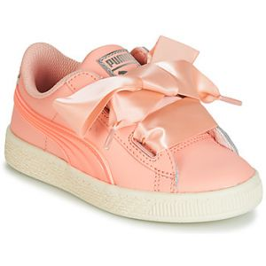Chaussures enfant Puma PS BASKET HEART JELLY.PEAC rose - Taille 28,29,30,31,32,33,34,35
