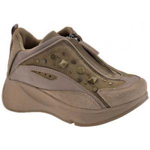 Chaussures enfant Fornarina Borchie Zip Talon compensé - Couleur 29,31,32 - Taille Beige