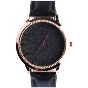 Montre Michael John Montre femme doree strass noir bracelet cuir Staly - Couleur Unique - Taille multicolor