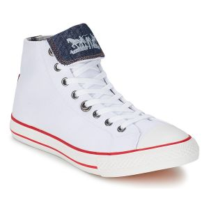 Chaussures Levis MENLO PARK HIGH FOLD LACE blanc - Taille 42,45