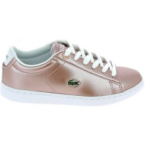 Chaussures Lacoste Carnaby Evo C Rose Blanc - Couleur 33 - Taille Rose