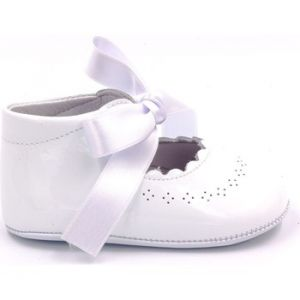 Chaussons bébé Boni Classic Shoes Boni Clémence - Chausson baptême cuir blanc - Taille 20