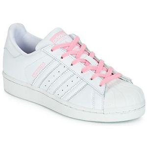 Chaussures enfant adidas SUPERSTAR J - Couleur 36 2/3,38 2/3 - Taille Blanc