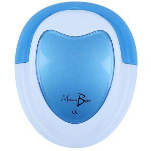 Doppler Foetal Monsieur Bébé Bleu + Gel + Pile + Écouteur + Câble Audio Pour Pc