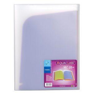 Trieur en plastique A4 - 10 compartiments avec pochettes de rangement
