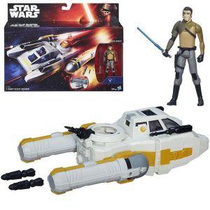 Véhicule Star Wars avec personnage