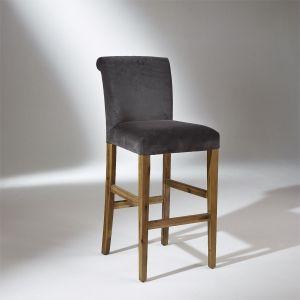 Chaise de bar ALIX, Velours