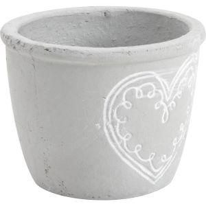 Aubry Gaspard - Cache pot coeur en ciment Diamètre 15cm