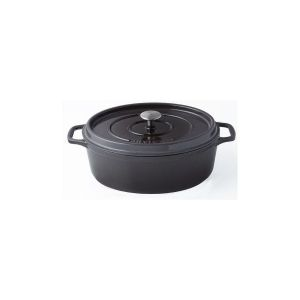 Cocotte Ovale - O 29 Cm - Taupe - Tous Feux Dont Induction