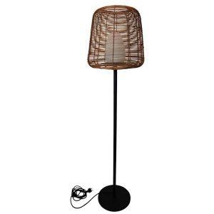 Lampadaire filaire effet rotin H150cm