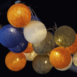 Guirlande lumineuse boule coton 20 LED