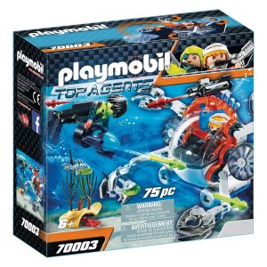 PLAYMOBIL 70003 Top Agents - Robot sous-marin Spy Team