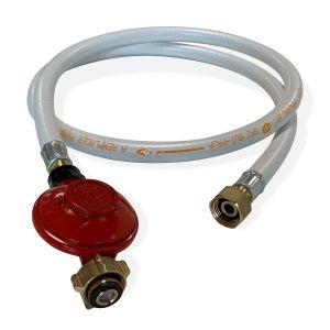 Kit Tuyau flexible de gaz 1,5 m à embouts mécaniques + Détendeur Propane 37mbar 1,5kg/h - Normes NF