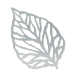 Dessous de verre feuille silver 15 cm