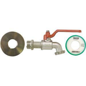 Kit adaptateur de cuve 1000l avec robinet 1/4 tour