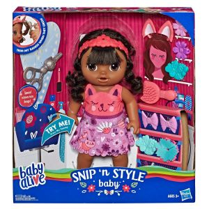 Baby alive - snip ' style baby brune