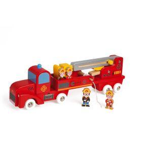 Story - camion de pompiers géant (bois)