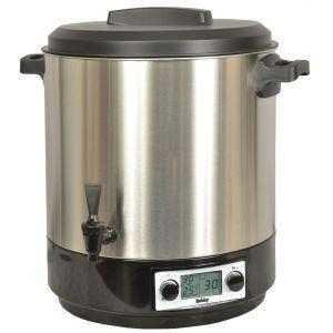 Stérilisateur électrique lcd avec robinet et minuteur 31l 2000w inox - steri pro inox xl lcd