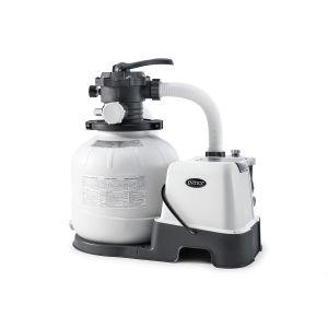 Combiné groupe de filtration à sable 6 m³/h + stérilisateur au sel + système OEC