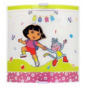 Grande applique murale en verre Dora l'Exploratrice